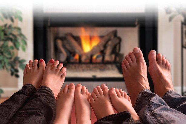 cozy fire comfort